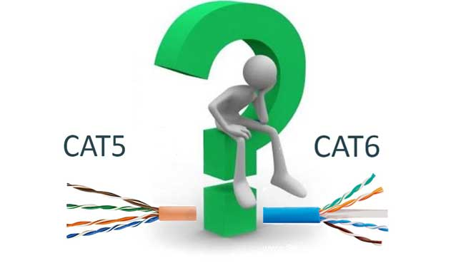 مقایسه کابل شبکه CAT5 و CAT6